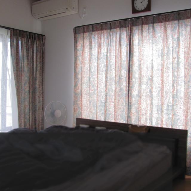 埼玉県E様邸 【ビンテージ・デザイン】のオーダーカーテンの施工例【寝室B】