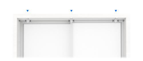 シェードの枠の内側に天井付け