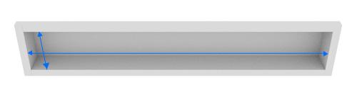 カーテンボックスのシェードのサイズの測り方