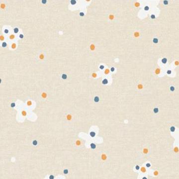 【北欧モダン】花のような蝶のプリントの遮光カーテン&シェード【ES-2045】ベージュ