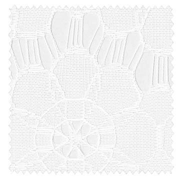 【北欧モダン】透かしの花柄のレースカーテン【ES-2437】ホワイト