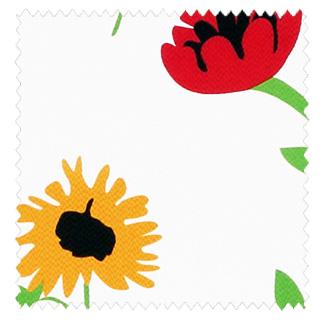 【北欧モダン】かわいい花柄プリントの遮光カーテン&シェード【HS-2377】レッド