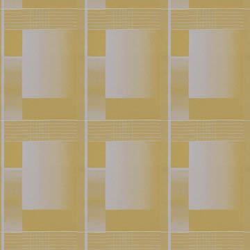 【ミッドセンチュリー】レトロな幾何学柄のドレープカーテン&シェード【HS-3006】イエローオーカー