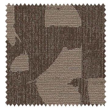 【イタリアン モダン】プリミティブなアフリカン柄のドレープカーテン&シェード【HS-3072】ダークブラウン