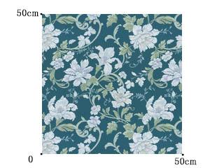 【クラシック モダン】煌びやかなジャガード織の花柄のドレープカーテン&シェード【HS-3146】ブルーグリーン