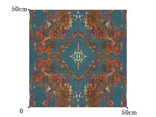 【ゴシック モダン】豪華なジャガード織のクラシック柄のドレープカーテン【HS-3157】オレンジ&ブルーグリーン