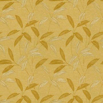 【和モダン】笹の葉の織柄の遮光カーテン&シェード【HS-3411】イエローゴールド