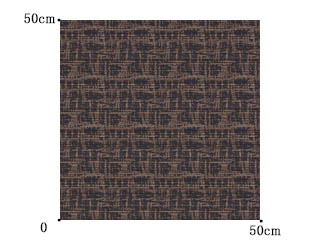 【イタリアン モダン】抽象的なアフリカン柄のドレープカーテン&シェード【HS-3443】ブラウン&ブラック