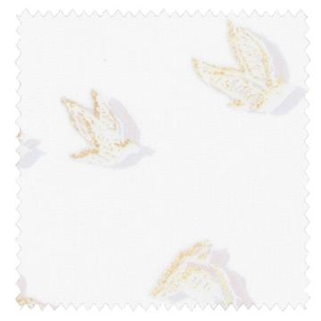 【シャビーシック】鳥の群れのオパールプリントのレースカーテン【HS-3553】ナチュラルホワイト