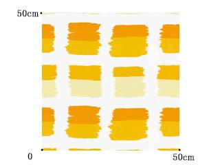 【ミッドセンチュリー】ペイント・ブロック柄のドレープカーテン&シェード【HS-4005】イエロー