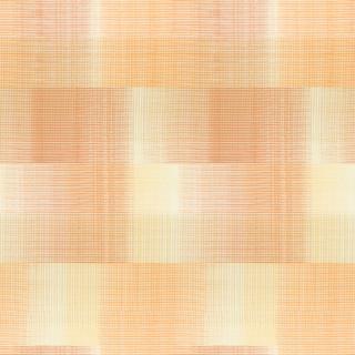 【ミッドセンチュリー】グラフィック・チェックのドレープカーテン&シェード【HS-4041】オレンジ