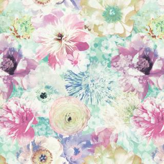 【フレンチ シック】美しいフラワーボックスのデザインのドレープカーテン&シェード【HS-4160】ピンク&グリーン