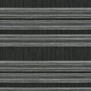 【ナチュラル モダン】ジャガード織のボーダーの遮光カーテン&シェード【HS-4343】ダークグレー