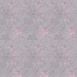 【クラシック モダン】百合(ユリ)の花のドレープカーテン&シェード【HS-7102】パープル&グレー