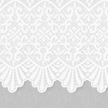 【クラシック モダン】裾ボーダー刺繍のレースカーテン&シェード【HS-7592】ホワイト