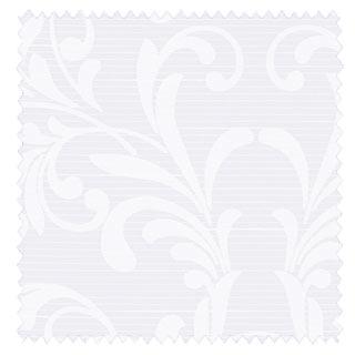 【クラシック モダン】アラベスク柄のオパールプリントのレースカーテン【HS-7603】ホワイト