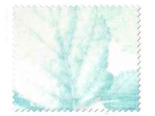 【北欧モダン】16色プリントのボタニカル(植物)柄のレースカーテン【HS-7612】ブルー