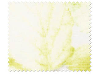【北欧モダン】16色プリントのボタニカル(植物)柄のレースカーテン【HS-7613】イエローグリーン