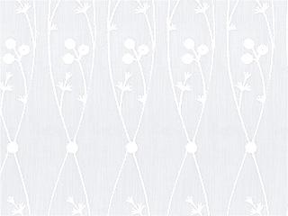【フレンチ ビンテージ】アールデコ調の刺繍のレースカーテン&シェード【HS-8536】ホワイト