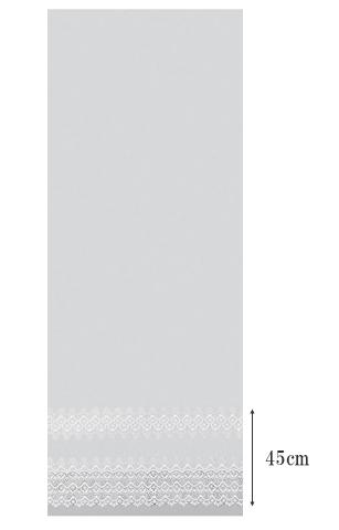 【アンティーク*クラシック】スタンダードな裾マクラメの刺繍のレースカーテン【IS-61410】オフホワイト