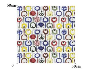【アルメダールス】林檎のレトロ・デザインの北欧カーテン【LC-9461ポモナ】