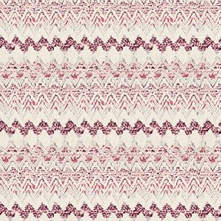 【エスニック・ビンテージ】ネイティブの幾何学柄のドレープカーテン&シェード【LX-8021】レッド