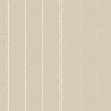 【フレンチ モダン】サラッとしたランダム・ストライプのドレープカーテン【LX-8034】ベージュ