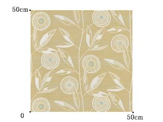 【北欧モダン】ノルディックの花柄のドレープカーテン&シェード【LX-8042】イエローオーカー
