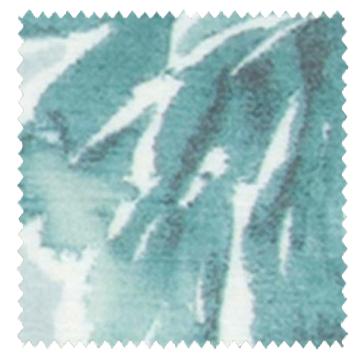 【フレンチ カントリー】水彩の花柄プリントのレースカーテン【LX-8435】ブルー