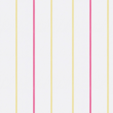 【フレンチ シック) リボン・ストライプのレースカーテン【LX-8477】イエロー&レッド