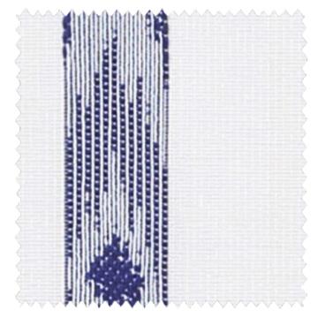 【西海岸スタイル】イカット柄ストライプのレースカーテン【LX-8478】インディゴ・ブルー
