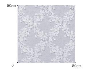 【フレンチ シック】光沢のあるクラシック柄のドレープカーテン&シェード【RC-7001】ライトブルーグレー