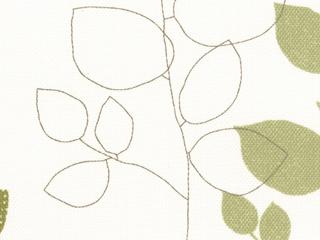 【北欧モダン】リーフ(葉)プリントのドレープカーテン【RC-7054】グリーン
