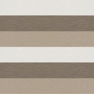 【ナチュラル・モダン】幅広ボーダーのドレープカーテン&シェード【RC-7061】アイボリー&ブラウン