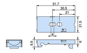 ロールスクリーンのブラケット(取付金具)の寸法
