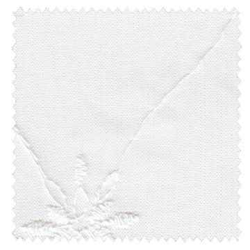 【フレンチ シック】装飾格子柄のボトム刺繍のレースカーテン【RX-3073】ホワイト