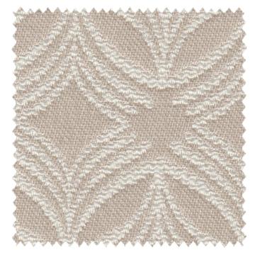 【イタリアン モダン】流麗な幾何学柄のドレープカーテン【RX-3078】ベージュ