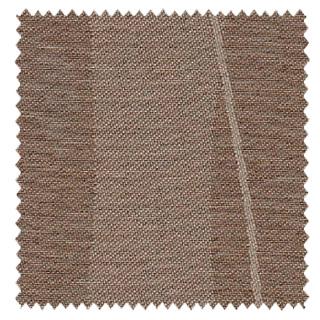 【ミッドセンチュリー】波形ストライプの幾何学柄の遮光カーテン&シェード【RX-4297】ブラウン