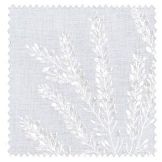 【北欧モダン】植物の実の刺繍のレースカーテン&シェード【RX-8001】シャンパンゴールド&ホワイト