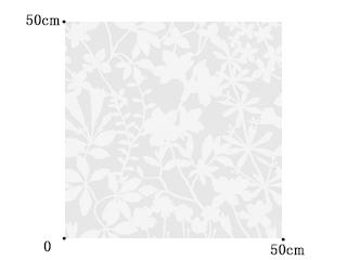 【北欧 モダン】植物のオパールプリントのレースカーテン&シェード【RX-8035】ホワイト