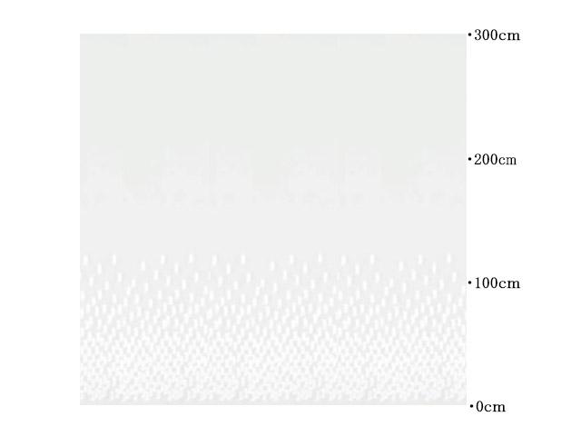 レースカーテン【ナチュラル モダン】天使の羽根のようなドット【RX-8053】ペールグレー