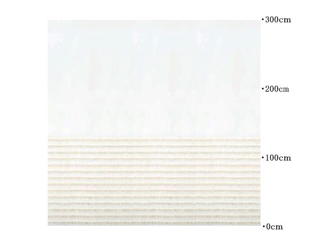 レースカーテン【ナチュラル モダン】麻のフリンジ・ボーダー【RX-8054】ライトブラウン
