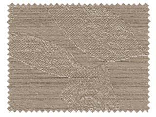 【ナチュラル ビンテージ】サクラの葉のシワ加工の遮光カーテン【RX-8201】ブラウン