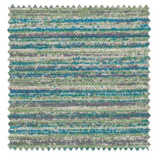 【ミッドセンチュリー】ボーダーのマテリアル・プリントの遮光カーテン【RX-8235】ブルー&グリーン