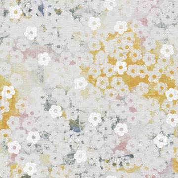 【シャビーシック】花のビンテージ・プリントのレースカーテン&シェード【RX-9032】