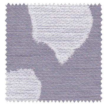 【北欧ナチュラル】葉柄のオパールプリントのドレープカーテン【RX-9041】ライトパープル