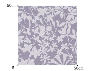 【北欧ナチュラル】透明感が美しい葉柄のオパールプリントのドレープカーテン【RX-9041】ライトパープル
