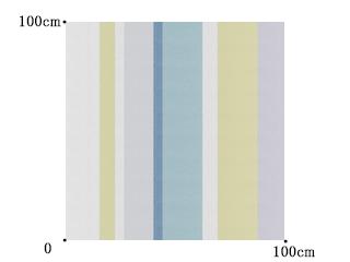 【北欧モダン】幅の広いデザイン・ストライプのレースカーテン【RX-9167】ブルー&イエローグリーン