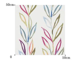 【北欧モダン】カラフルなリーフ柄の遮光カーテン【RX-9227】レッド&ホワイト