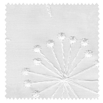 北欧モダン】花柄のステッチ刺繍のレースカーテン【RX-A942】オフホワイト